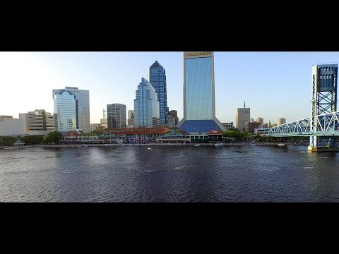 Downtown Jacksonville Aerial Drone Video