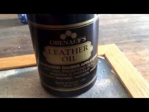 Obenauf's Leather Oil (on my .22 gun belt)