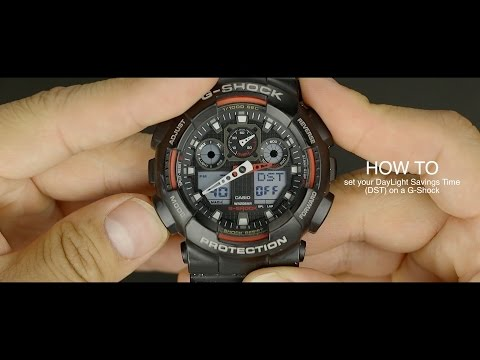 HOW TO set daylight savings time DST on a G-Shock watch