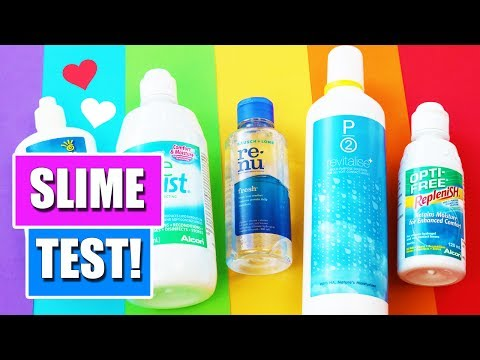 SLIME TEST! 🏳️‍🌈 Which Contact Lens Solution Is The Best To Make Slime? 👀