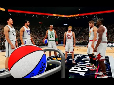 NBA 2K16: The Greatest 3 Point Contest Of All Time 2! Peja, Petrovic, Kerr, Korver, Pierce, Hodges!