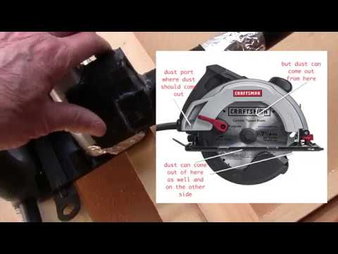 Circular saw dust collector for my crosscut jig