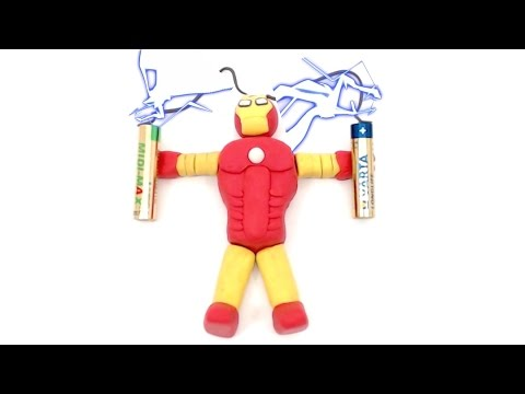 Making Iron Man Claymation Superheroes PlAy DOh Stop Motion Animation Video