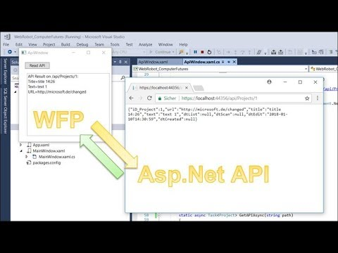 Read Web Api to WPF Client in Json, REST and Asp.Net Core