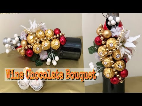 how to wrap wine bottle | Wine chocolate bouquet | DIY Christmas gift | bee kreativee