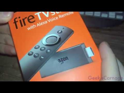 Amazon Fire Stick with Alexa Remote Unboxing - Super Short To The Point