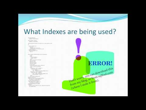 Table Indexing 101