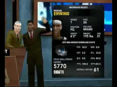 NBA 2K12-How To Get Drafted In A Good Team