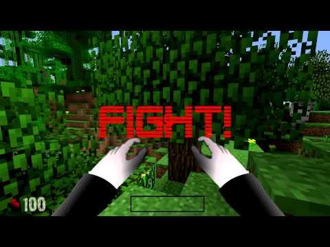 GAME BATTLE - SLENDER VS. MINECRAFT GUY -