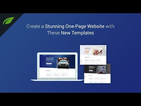 Create a Stunning One-Page Website with These New Templates