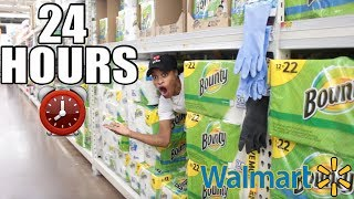 24 HOURS IN WALMART CHALLENGE!! *WE GOT KICKED OUT*