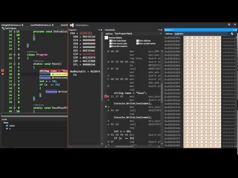 Modifying memory - Visual Studio debugging