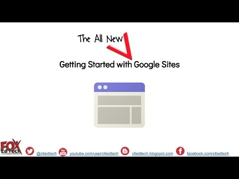 Creating a Website in the NEW Google Sites