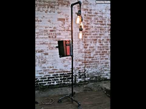 Industrial Pipe Floor Lamps