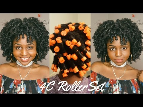 PERM ROD /ROLLER SET ON 4C NATURAL HAIR