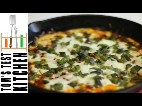 Queso Fundido with Chorizo and Poblano Peppers