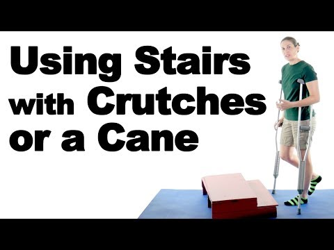 How to Go Up & Down Stairs Safely with Crutches or a Cane - Ask Doctor Jo
