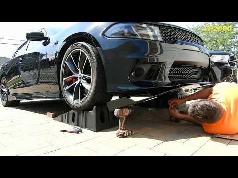 Dodge Charger r/t Scat Pack Srt Front Lip Splitter Installation
