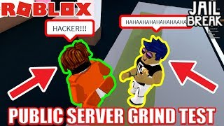 PUBLIC SERVER vs VIP SERVER | Roblox Jailbreak 30 Minute Grinding Test -  getplaypk