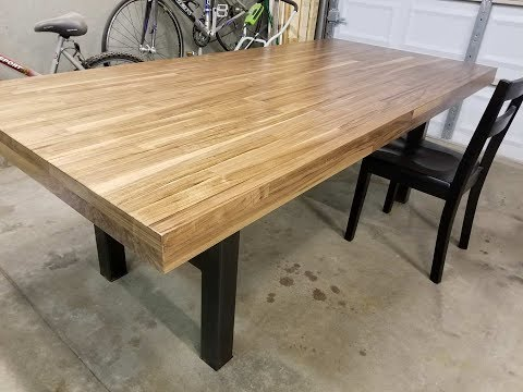Custom Walnut & Steel Dining Table
