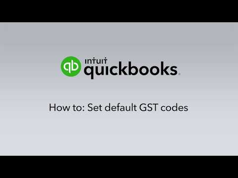 How to set default GST Codes for your Chart of Accounts