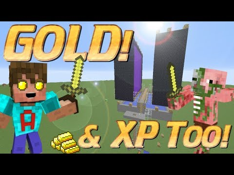 How to make a Gold Farm in Minecraft | Overworld Gold Farm | Minecraft XP Farm Tutorial