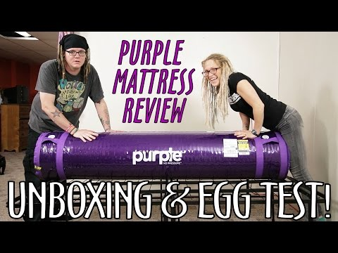 🛏️ Purple Mattress Unboxing | Review | Egg Test | What!? What!? 🛏️