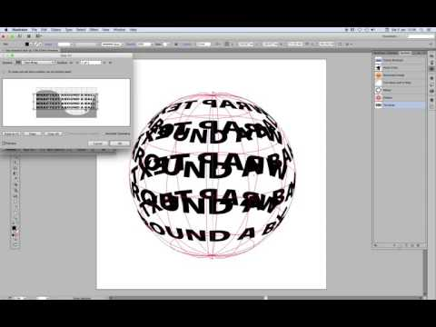 3D text wrap around a ball tutorial - Illustrator CS5