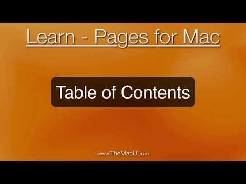 How to quickly build a Table of Contents in Pages for Mac!