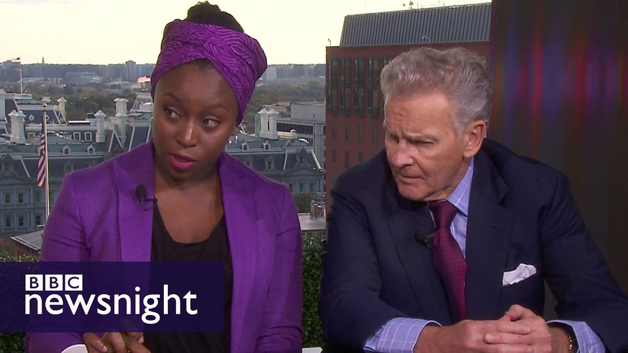 Chimamanda Ngozi Adichie and R Emmett Tyrrell: Full debate - BBC Newsnight