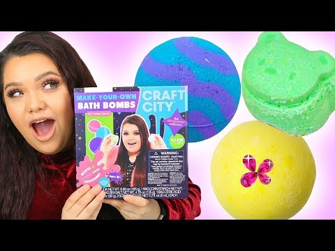 Karina Garcia's DIY BATH BOMB KIT! Sleepover Collection + Make Your Own Lip Kits!
