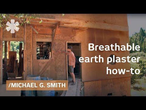 A no-VOC earth plaster for a breathable home