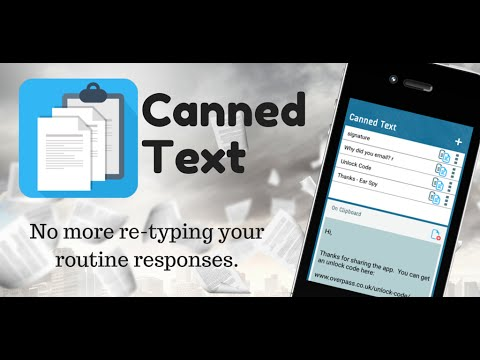 Canned Text: The Clipboard Manager for iPhone, iPad and Android