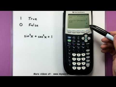 Trigonometry - Checking trig identities using a calculator
