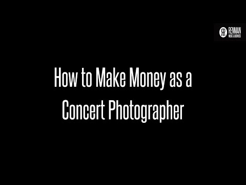 Making Money as a Concert Photographer on Ask Renman