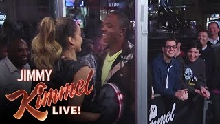 Jimmy Kimmel Live Celebrity Kissing Booth with Jessica Alba