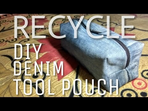 RECYCLE!! | BEST OUT OF WASTE | DIY DENIM TOOL POUCH/BOX CASE |