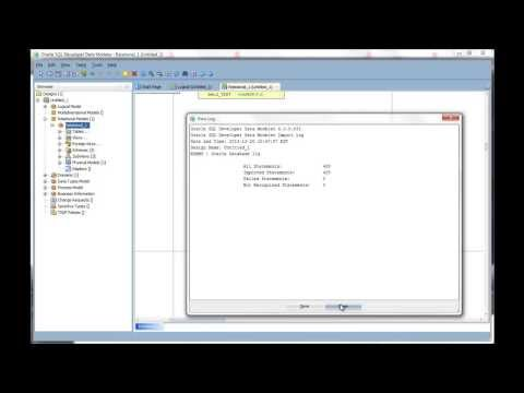 Importing a Data Dictionary to a Model using Oracle SQL Developer Data Modeler