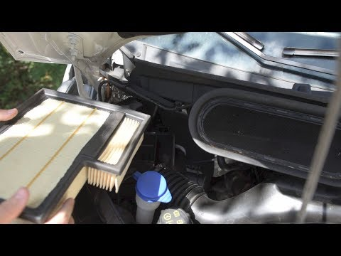 Ford Transit 3.7L air filter replacement USA - step by step