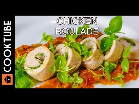 Chicken Roulade Recipe | Cheese, Mushroom & Spinach Stuffing