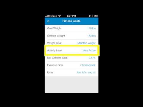 My Fitness Pal - Setting Your Weight Loss Goal