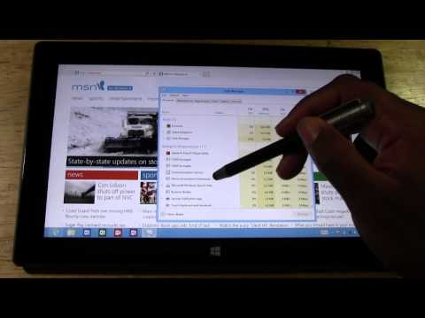 Surface Tablet: How to Bring Up the Task Manager​​​ | H2TechVideos​​​