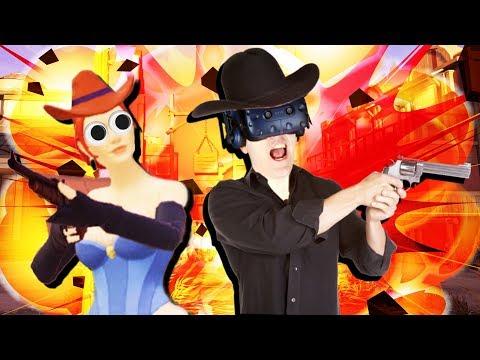 BLASTING COWBOYS IN VR! - High Noon VR Gameplay - VR HTC Vive (Sponsored)
