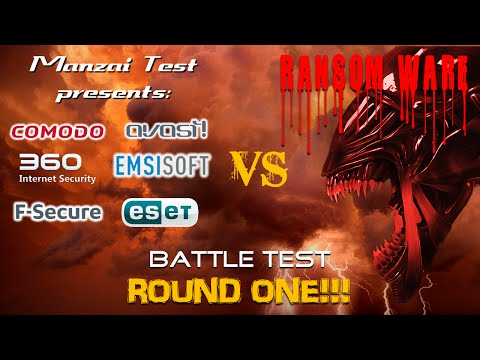 [Battle Test] Round 1 - 6 Antivirus VS Ransomware