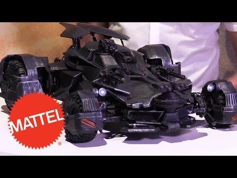 JUSTICE LEAGUE Elite-Tek BATMOBILE Comes to Life at New York Toy Fair 2017 | Mattel