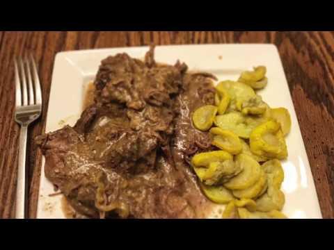 Crockpot Deer Roast (gravy and banana peppers)
