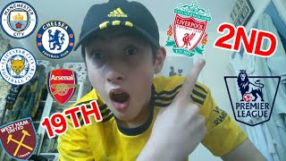 PREDICTING How The PREMIER LEAGUE Table Will FINISH