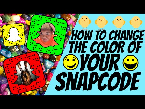 HOW TO CHANGE YOUR SNAPCODE COLOR ||SNAPCHAT TRICKS