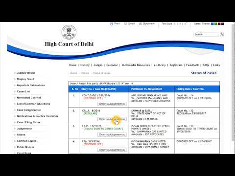 Find order copy and case status from Delhi high court website