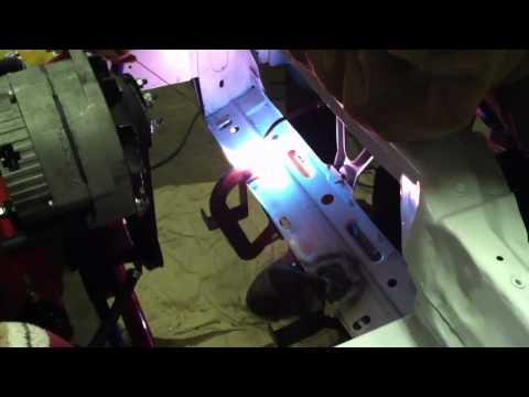 Welding up radiator brakets